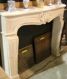 Large reclaimed decorative natural stone fireplace