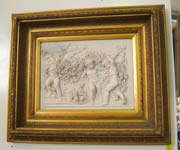 Marble Relief of Cherubs in Frame